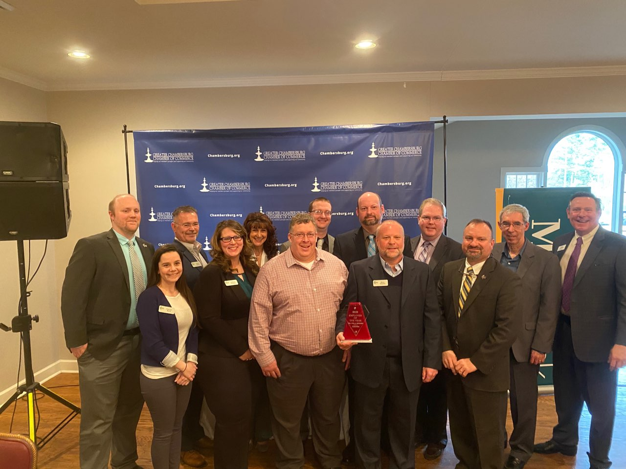 SEK accepts their Employer of the Year Award