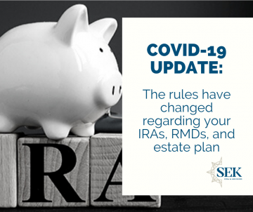 The rules have changed regarding your IRAs, RMDs and estate plan