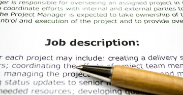 Review and revise job descriptions for everyone's benefit