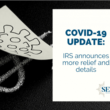 COVID-19: IRS announces more relief and details