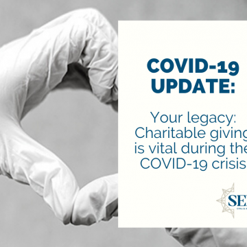 Your legacy: Charitable giving is vital during the COVID-19 crisis