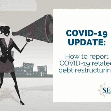 How to report COVID-19-related debt restructuring