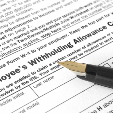 IRS Releases 2020 Form W-4 Employee's Withholding Allowance Certificate