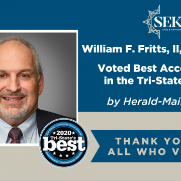 Bill Fritts, Member of SEK, CPAs & Advisors Voted Best Accountant by Herald Mail Readers