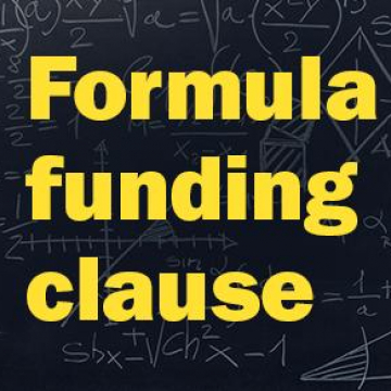 Formula funding clause