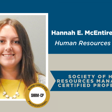 Hannah E. McEntire Earns HR Certified Professional Certificate